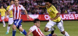 Estadísticas del juego entre Colombia y Paraguay