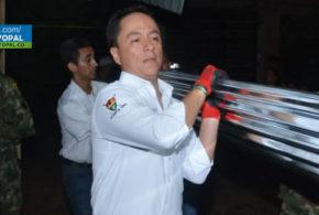 alcalde @leo_puentes acompañó la entrega de apoyos a familias afectadas por las lluvias en La Bendición
