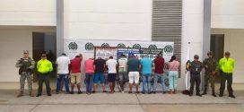 Once integrantes de una organización fueron capturadas, quienes al parecer se dedicaban al tráfico de estupefacientes.
